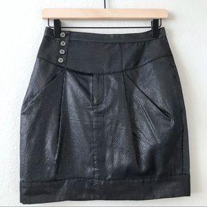 WALTER BAKER Black Metallic Stripe Mini Skirt 2